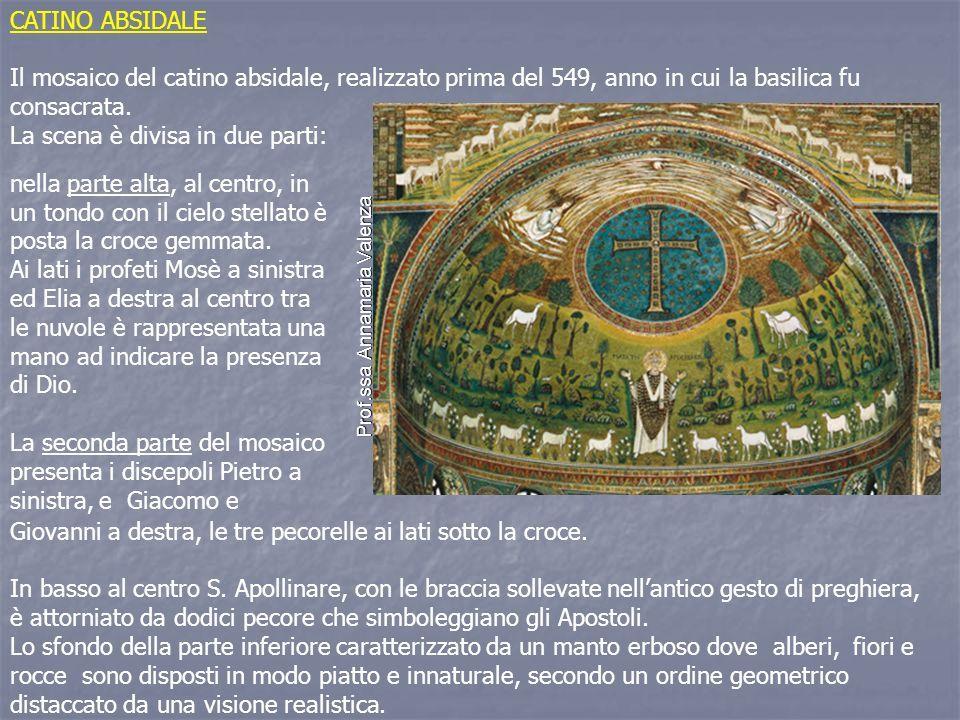 CATINO ABSIDALE Il mosaico del catino absidale, realizzato prima del 549, anno in cui la basilica fu consacrata.