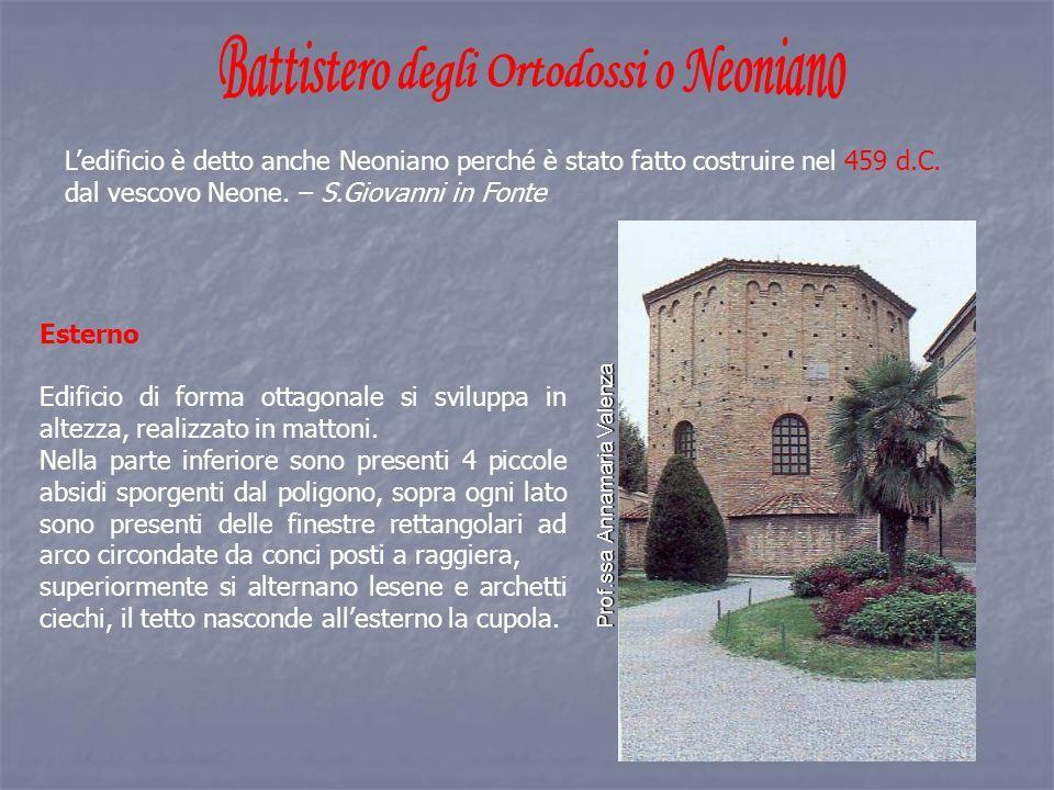 L'edificio è detto anche Neoniano perché è stato fatto costruire nel 459 d.C.