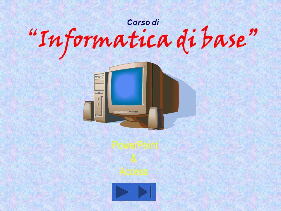 PowerPoint  PowerPoint è quell' applicativo del pacchetto Office che permette di realizzare in maniera semplice e veloce delle presentazioni multimediali dall'aspetto professionale.