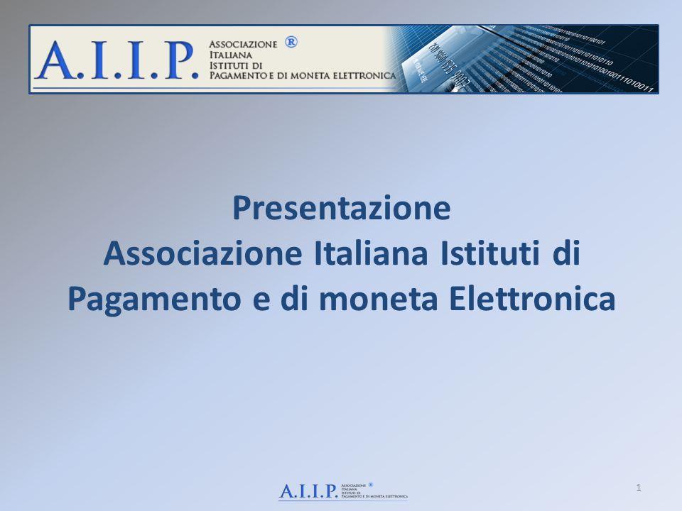 Presentazione Associazione Italiana Istituti di Pagamento e di moneta Elettronica 1