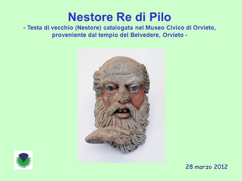 Nestore Re di Pilo - Testa di vecchio (Nestore) catalogata nel Museo Civico di Orvieto, proveniente dal tempio del Belvedere, Orvieto - 28 marzo 2012