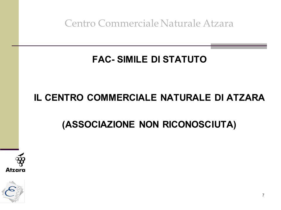 8 Obiettivi del Centro Commerciale Naturale Atzara L'Ass.