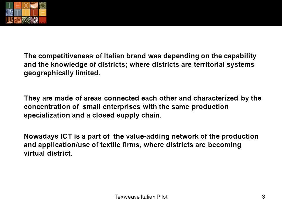 Texweave Italian Pilot14 WORKPLAN - TIMETABLE