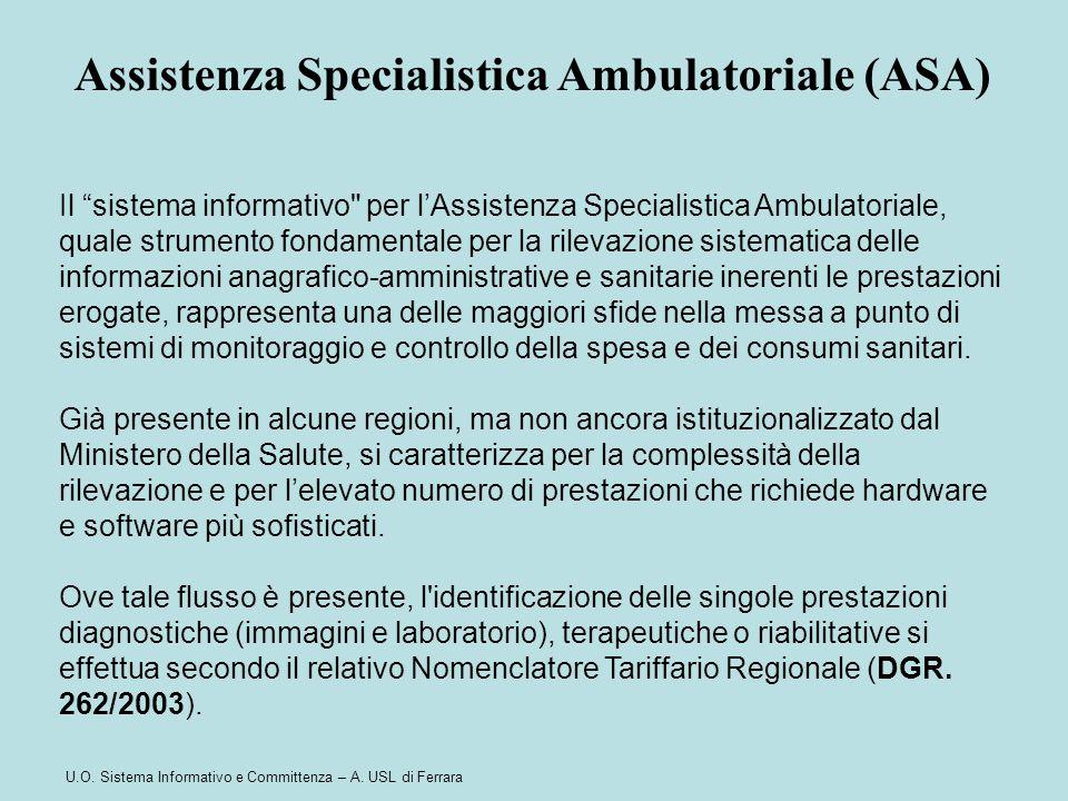 """U.O. Sistema Informativo e Committenza – A. USL di Ferrara Il """"sistema informativo"""