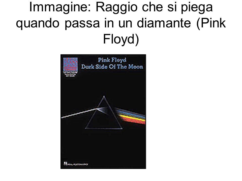 Immagine: Raggio che si piega quando passa in un diamante (Pink Floyd)