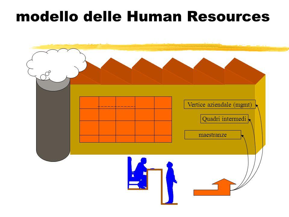 modello delle Human Resources Vertice aziendale (mgmt) maestranze Quadri intermedi