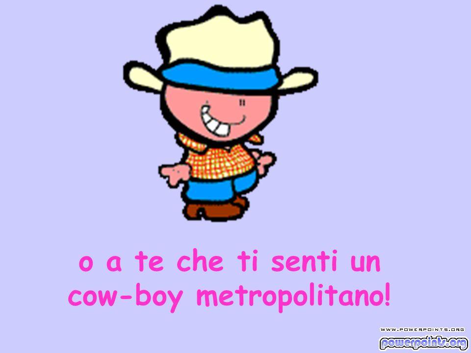 o a te che ti senti un cow-boy metropolitano!