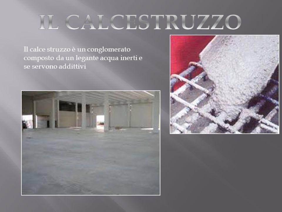 Il calce struzzo è un conglomerato composto da un legante acqua inerti e se servono addittivi