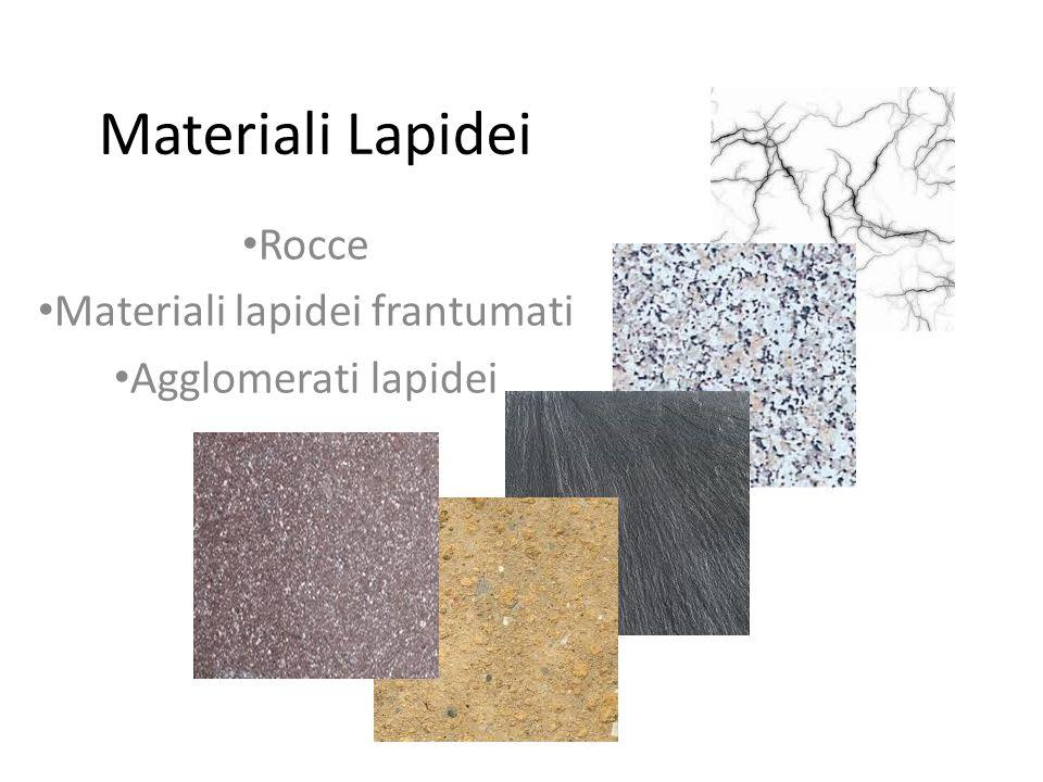 Materiali Lapidei Rocce Materiali lapidei frantumati Agglomerati lapidei