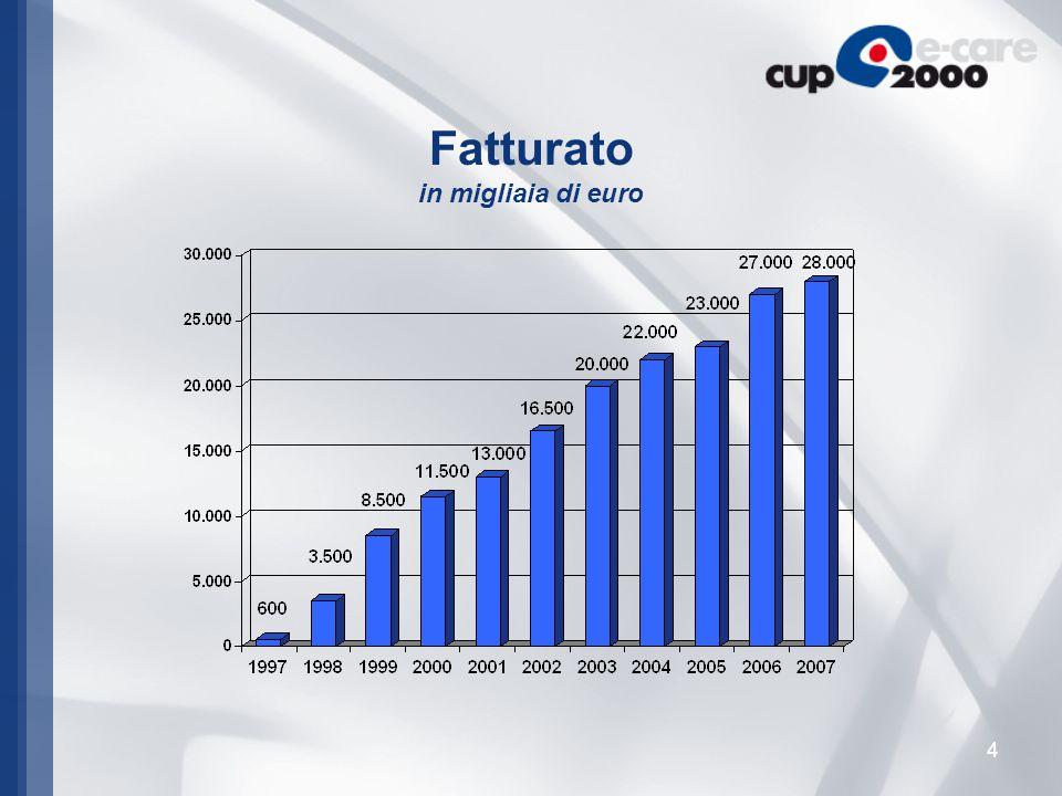 4 Fatturato in migliaia di euro