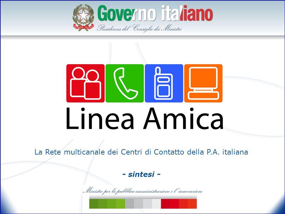La Rete multicanale dei Centri di Contatto della P.A. italiana - sintesi -