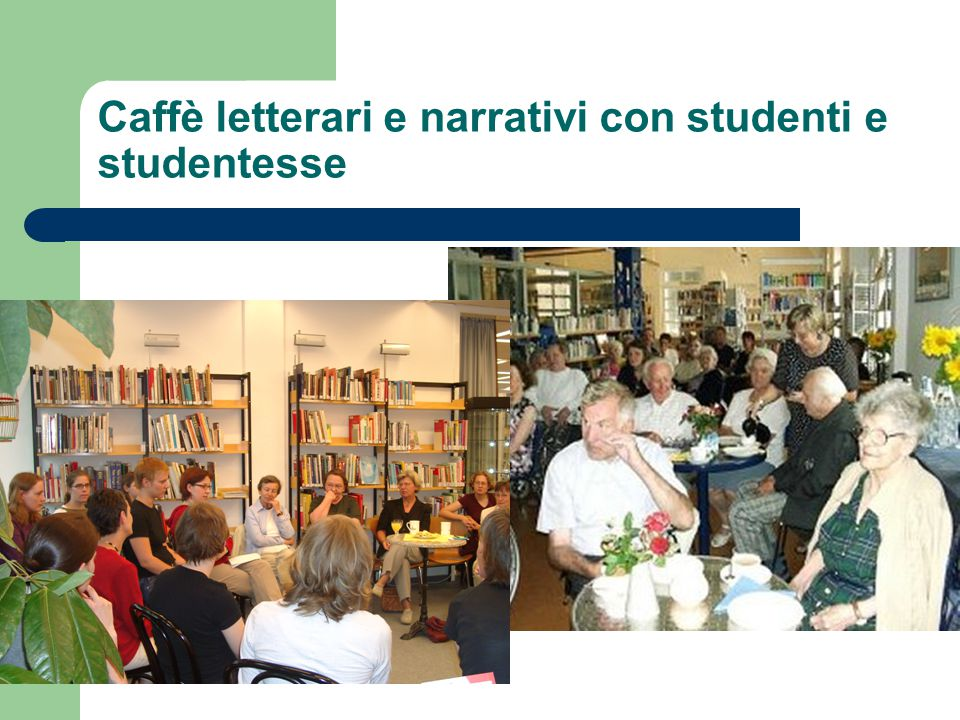 Caffè letterari e narrativi con studenti e studentesse