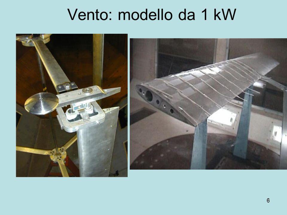 7 Vento: L'idea di Hammurabi Utilizzo di infrastrutture esistenti Canalizzazione del vento Assenza di strutture mobili esterne Alta efficienza (50% !!!!)