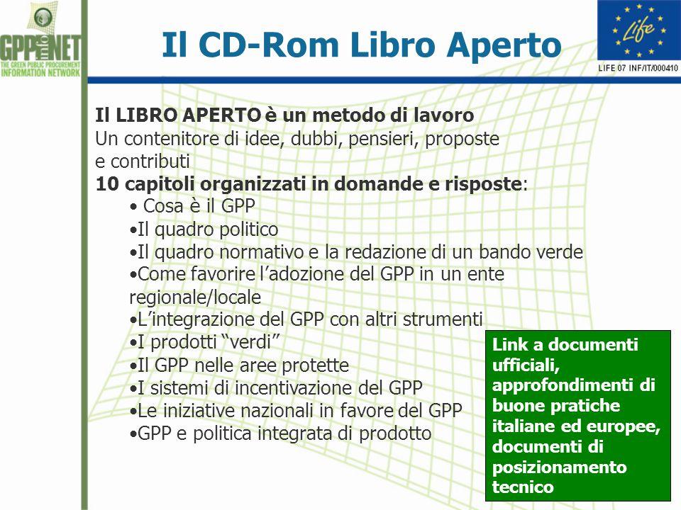 Il CD-Rom Libro Aperto Il LIBRO APERTO è un metodo di lavoro Un contenitore di idee, dubbi, pensieri, proposte e contributi 10 capitoli organizzati in