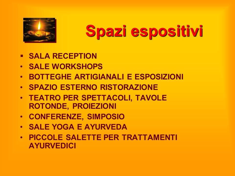 Spazi espositivi  SALA RECEPTION SALE WORKSHOPS BOTTEGHE ARTIGIANALI E ESPOSIZIONI SPAZIO ESTERNO RISTORAZIONE TEATRO PER SPETTACOLI, TAVOLE ROTONDE,