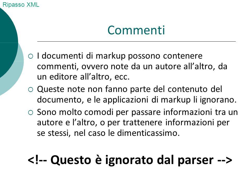 Giulio Cesare Bruto 10 Roma 10100 321654 32557684785 Giovanni Pompeo Catilina 12 Milano 12100 96877564 3356545342 Ricordate la rubrica in XML?