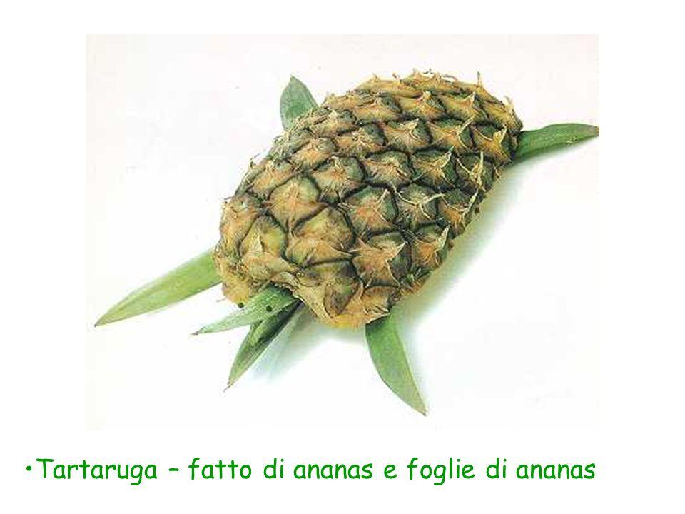 Tartaruga – fatto di ananas e foglie di ananas