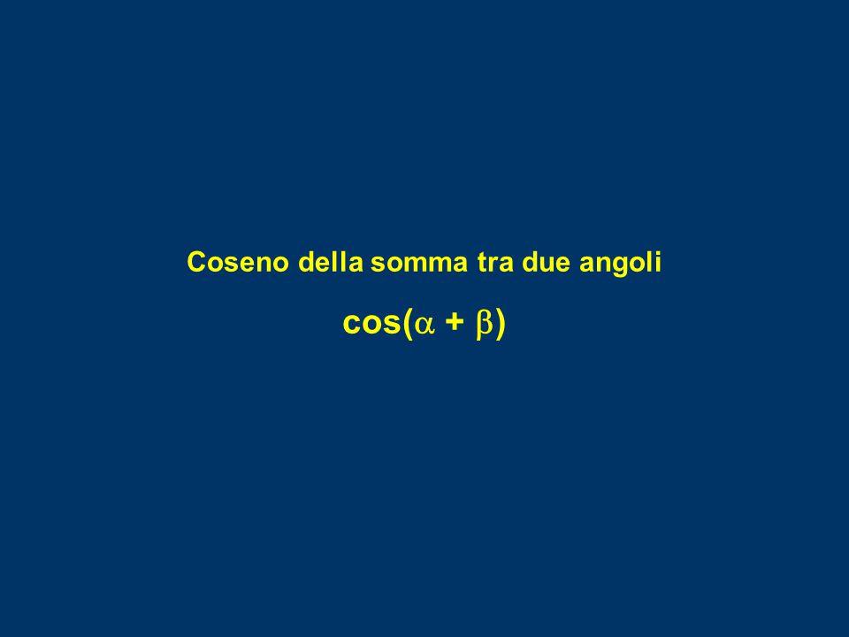 Coseno della somma tra due angoli cos(  +  )
