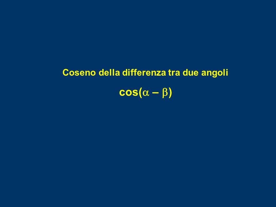  P' x y 0 A Coseno della differenza tra due angoli cos(  –  )