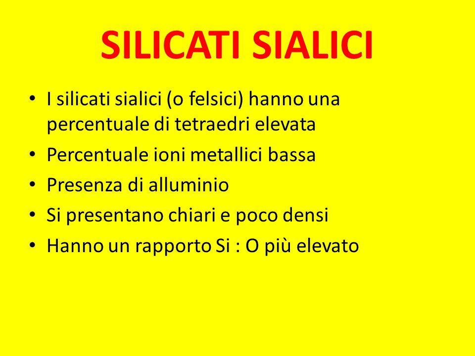 Nella figura possiamo osservare un silicato femico, l'olivina. Altri silicati femici sono ad esempio i pirosseni, gli anfiboli, la mica. In questa imm