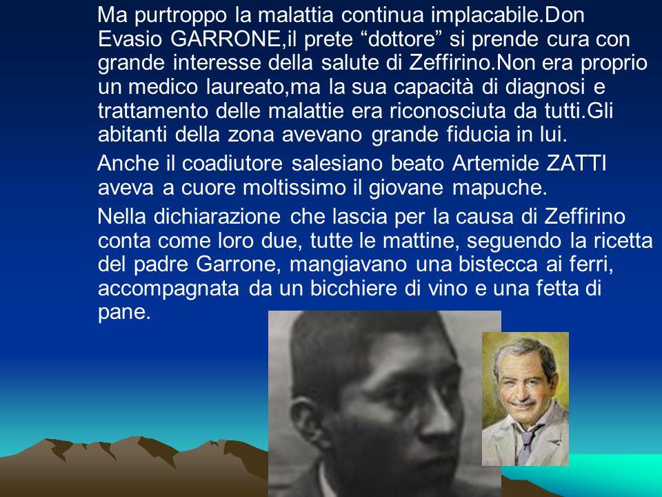 """Ma purtroppo la malattia continua implacabile.Don Evasio GARRONE,il prete """"dottore"""" si prende cura con grande interesse della salute di Zeffirino.Non"""