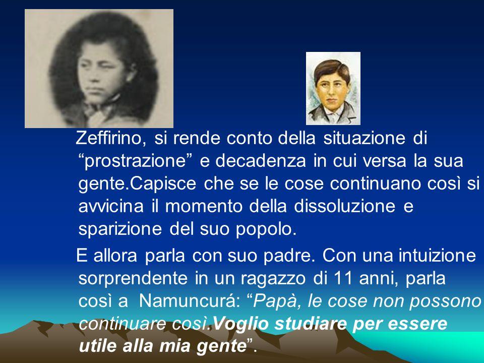"""Zeffirino, si rende conto della situazione di """"prostrazione"""" e decadenza in cui versa la sua gente.Capisce che se le cose continuano così si avvicina"""