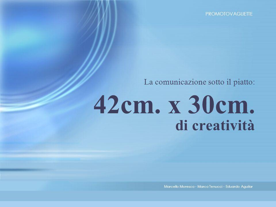 La comunicazione sotto il piatto: 42cm. x 30cm.
