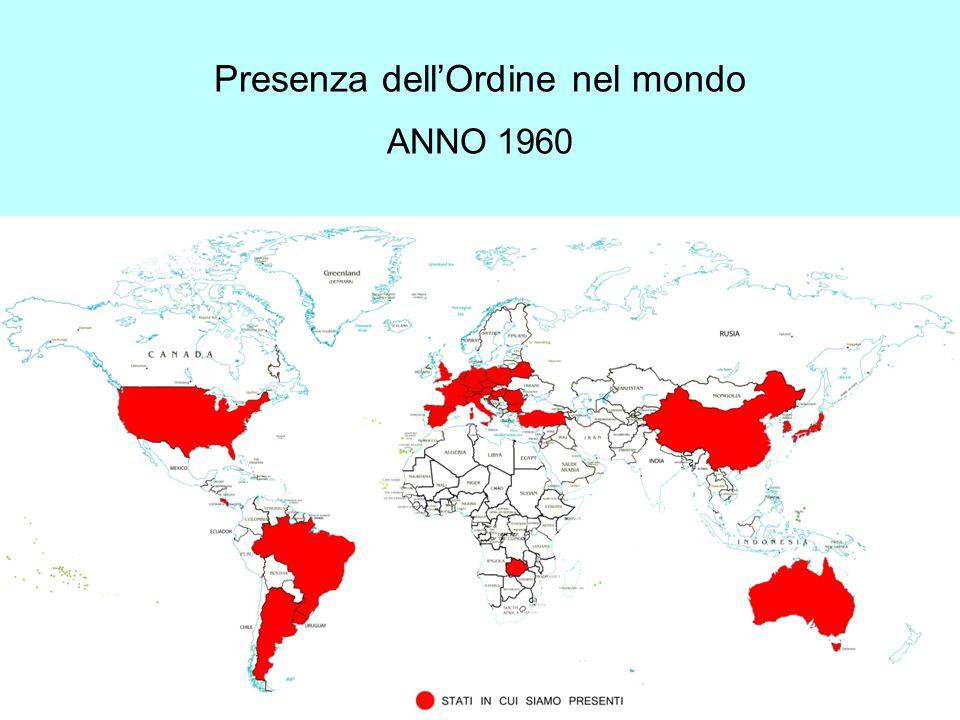 Presenza dell'Ordine nel mondo ANNO 1960