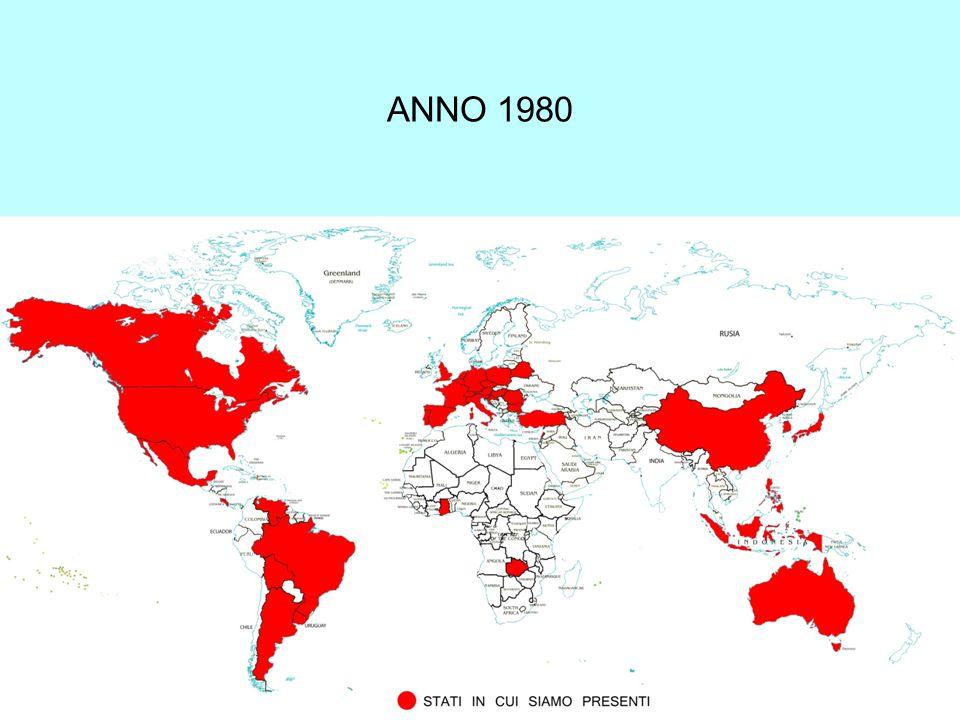 Case di formazione in Europa (2000-2010) 200020052010 post-noviziato (s.m.)222013 noviziato151411 postulato19 16 seminario minore753 case di formazione555037