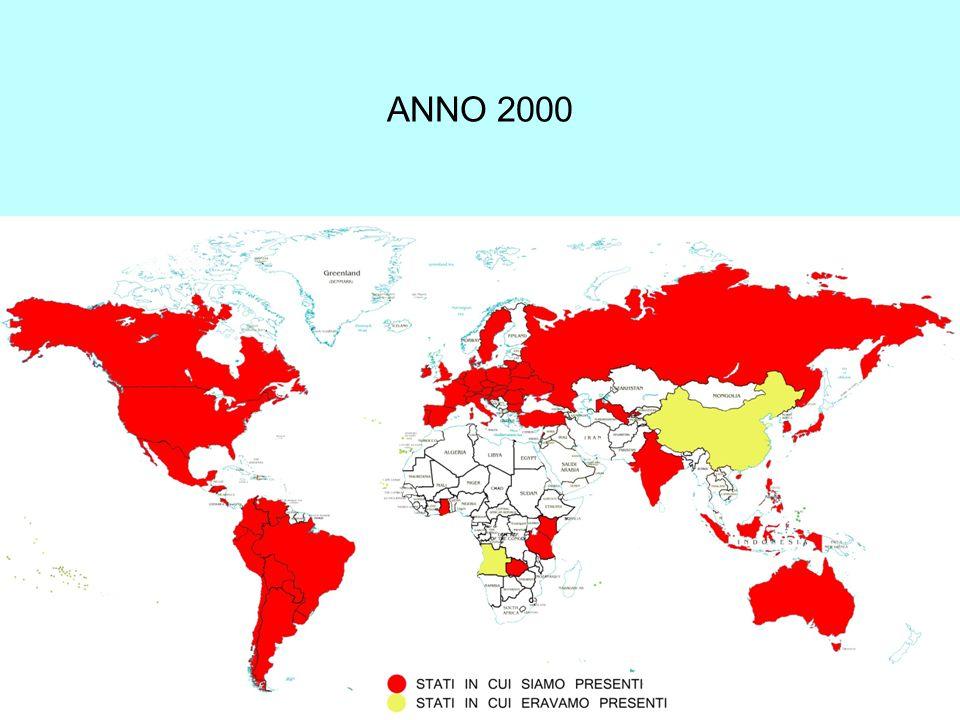 Attività dei Conventi nei Continenti (2010) AFRICA 34 conventi 1 pro tempore clausus Parrocchia Santuario o chiesa non parrocchiale Attività spirituale, sociale, culturale NORDAM.