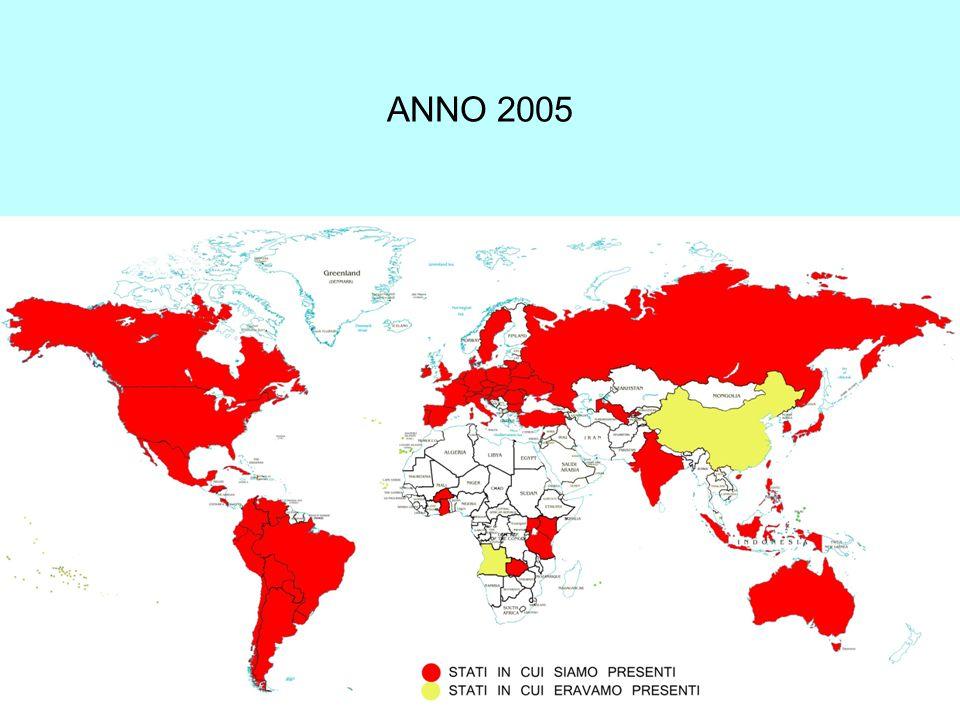 Conventi dell'Ordine nei Continenti (2000-2010) AFRICANORD AMERICA SUD AMERICA ASIAOCEANIAITALIAPOLONIARESTO D'EUROPA EUROPAO.