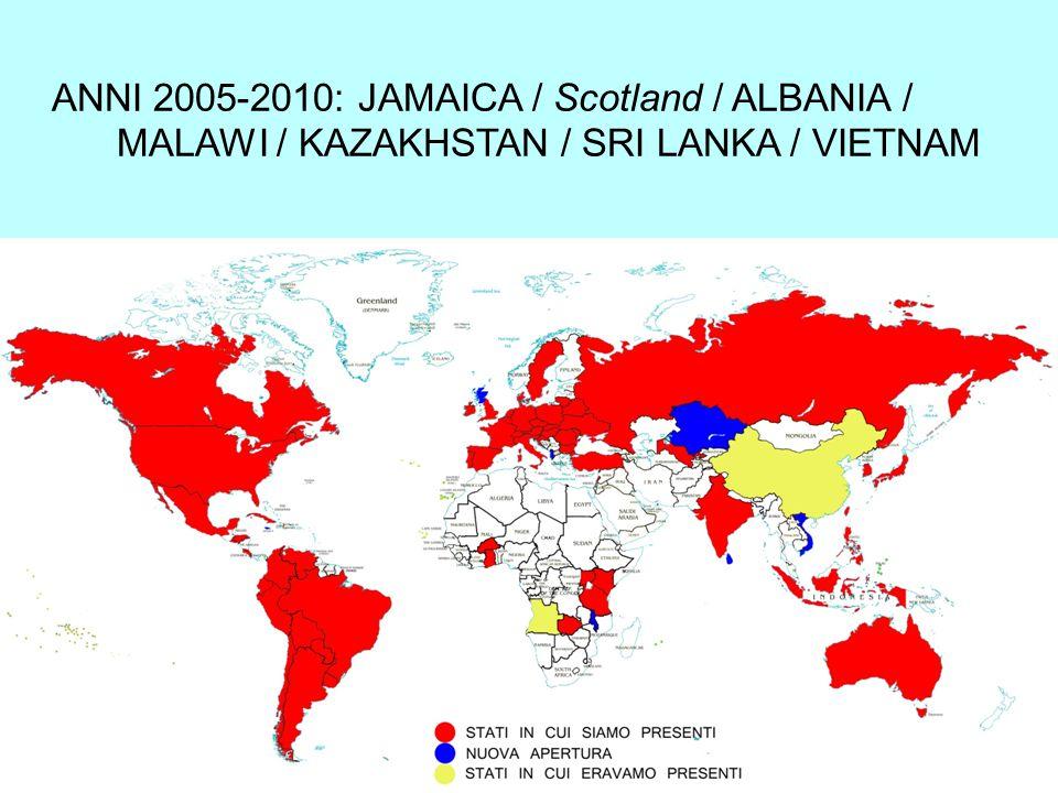ANNI 2005-2010: JAMAICA / Scotland / ALBANIA / MALAWI / KAZAKHSTAN / SRI LANKA / VIETNAM