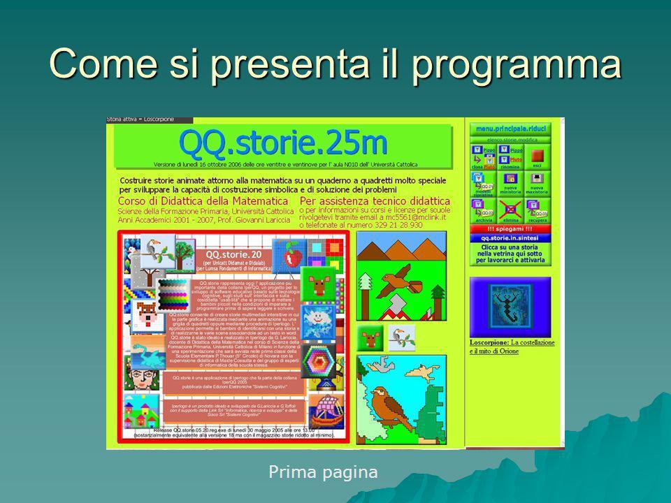 Come si presenta il programma Prima pagina