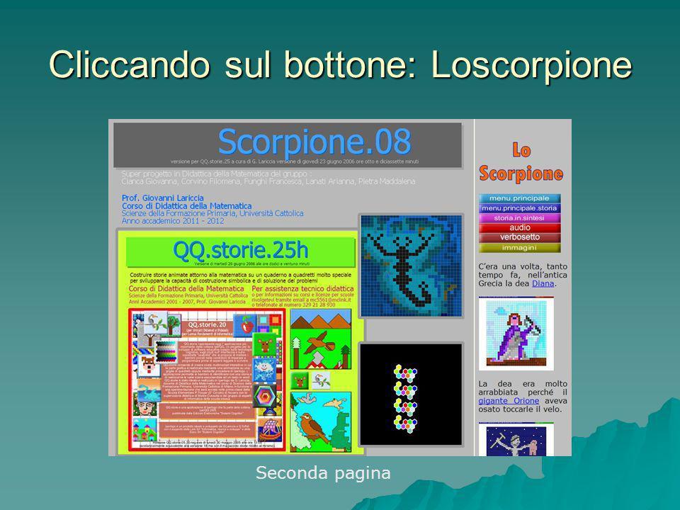 Cliccando sul bottone: Loscorpione Seconda pagina