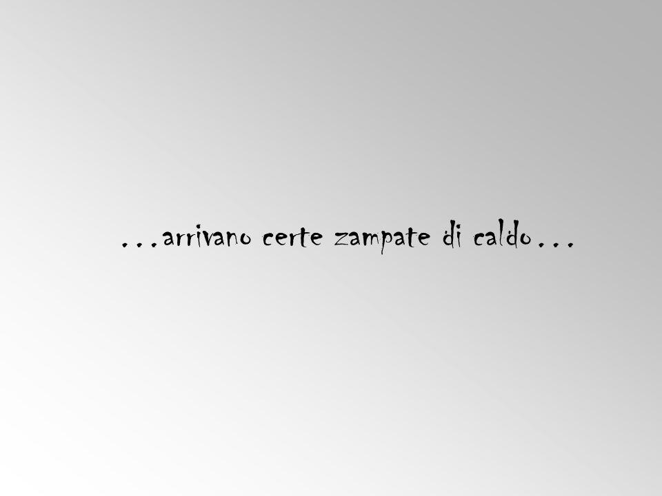 …arrivano certe zampate di caldo…