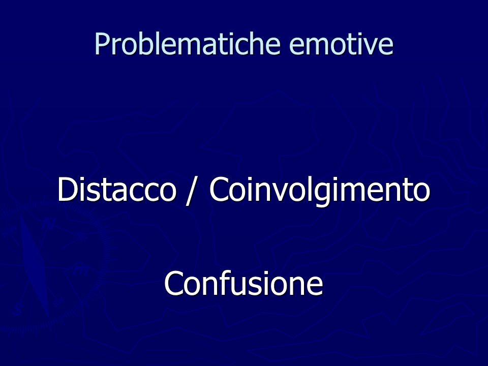 Problematiche emotive Distacco / Coinvolgimento Confusione