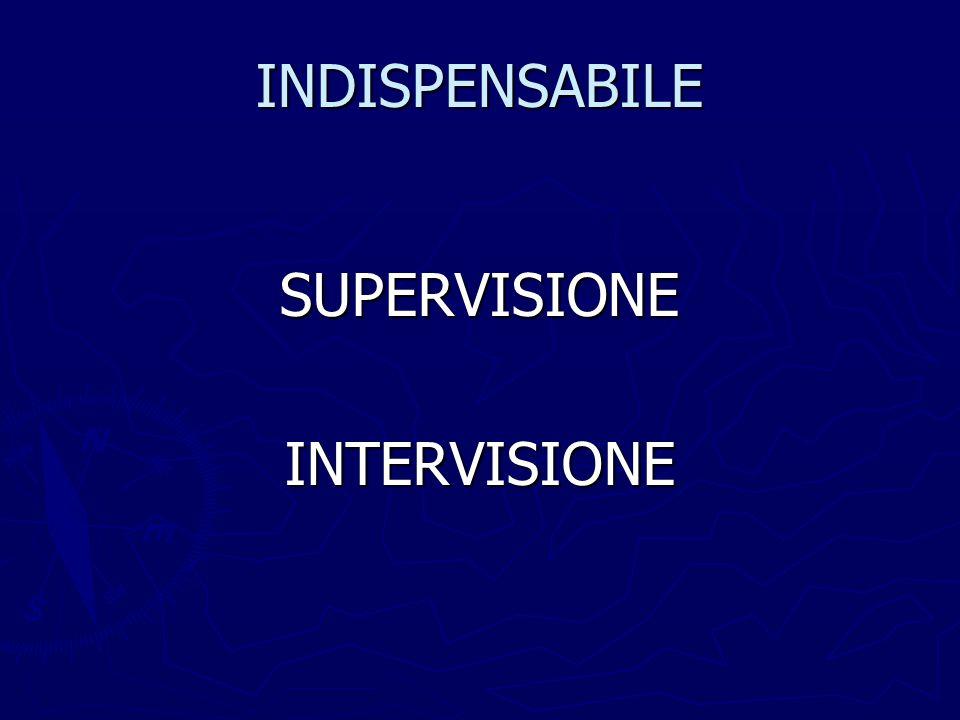 INDISPENSABILE SUPERVISIONEINTERVISIONE