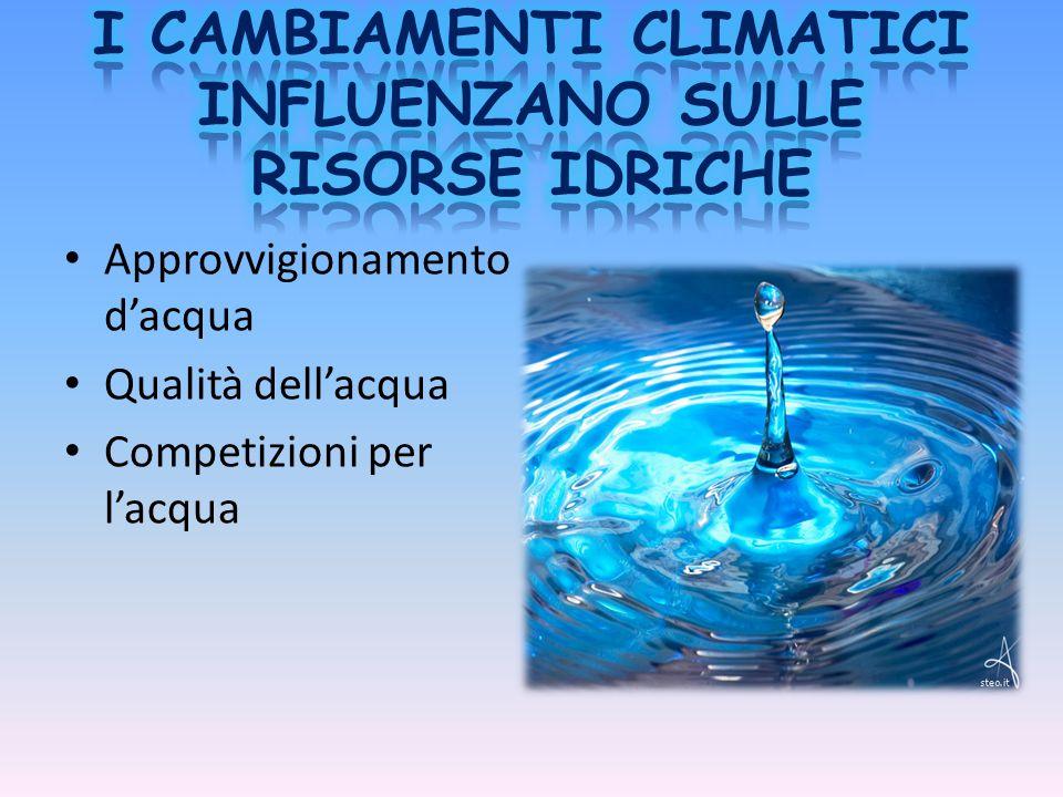 Approvvigionamento d'acqua Qualità dell'acqua Competizioni per l'acqua
