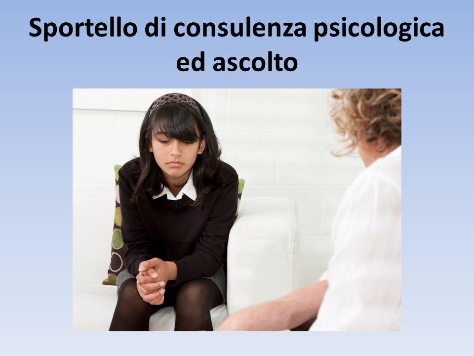 Sportello di consulenza psicologica ed ascolto