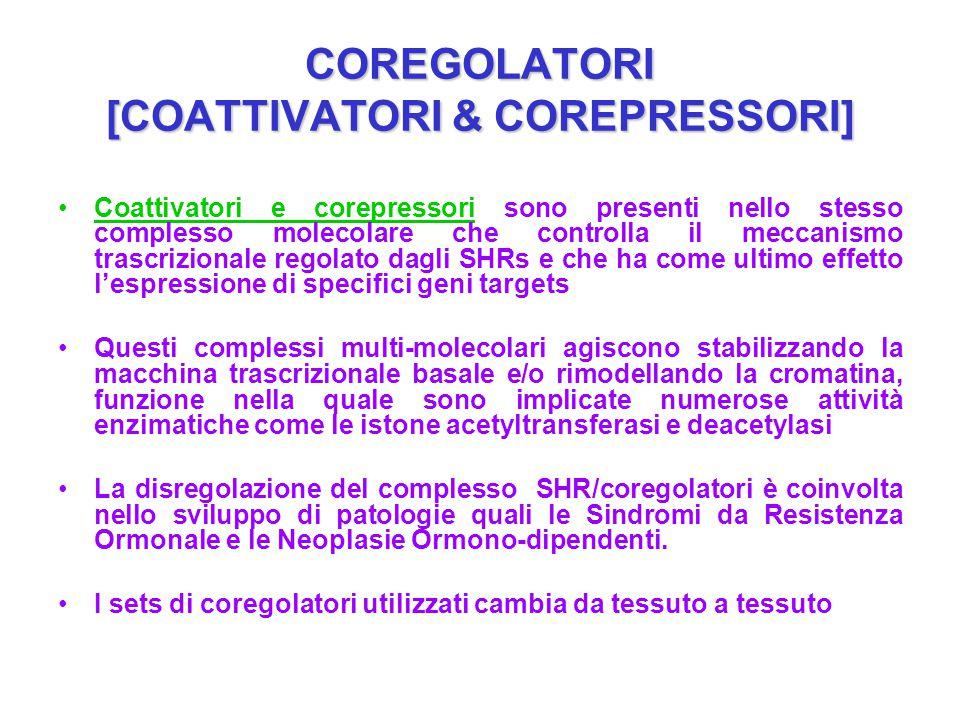 COREGOLATORI [COATTIVATORI & COREPRESSORI] Coattivatori e corepressori sono presenti nello stesso complesso molecolare che controlla il meccanismo tra