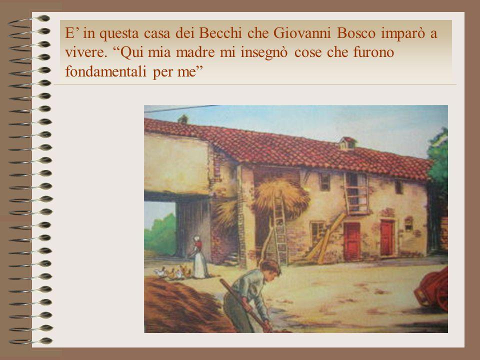 Fu l'otto dicembre di quello stesso anno che incontrai il primo giovane povero ed abbandonato nella sagrestia di una chiesa di Torino: Bartolomeo Garelli.