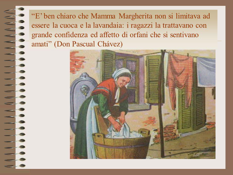 """""""E' ben chiaro che Mamma Margherita non si limitava ad essere la cuoca e la lavandaia: i ragazzi la trattavano con grande confidenza ed affetto di orf"""