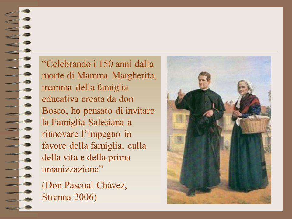 """""""Celebrando i 150 anni dalla morte di Mamma Margherita, mamma della famiglia educativa creata da don Bosco, ho pensato di invitare la Famiglia Salesia"""