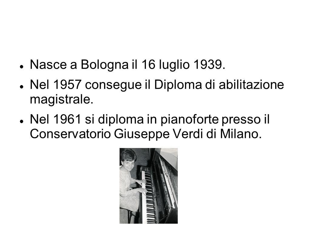Nasce a Bologna il 16 luglio 1939. Nel 1957 consegue il Diploma di abilitazione magistrale.