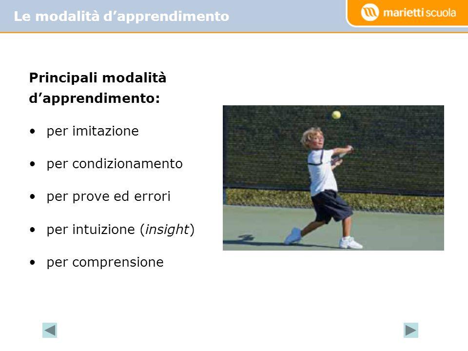 la conoscenza dei concetti; il controllo e la coordinazione del gesto; la muscolatura impiegata; l'efficacia del movimento; la capacità d'attenzione; la rilevazione e la correzione dell'errore.
