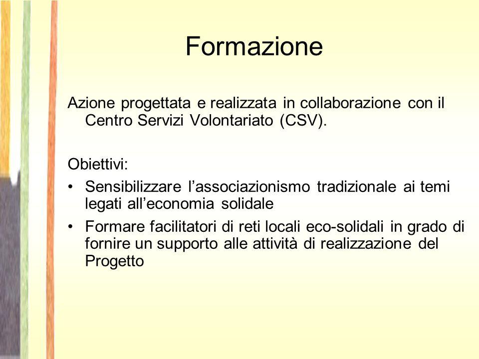 Formazione Azione progettata e realizzata in collaborazione con il Centro Servizi Volontariato (CSV).