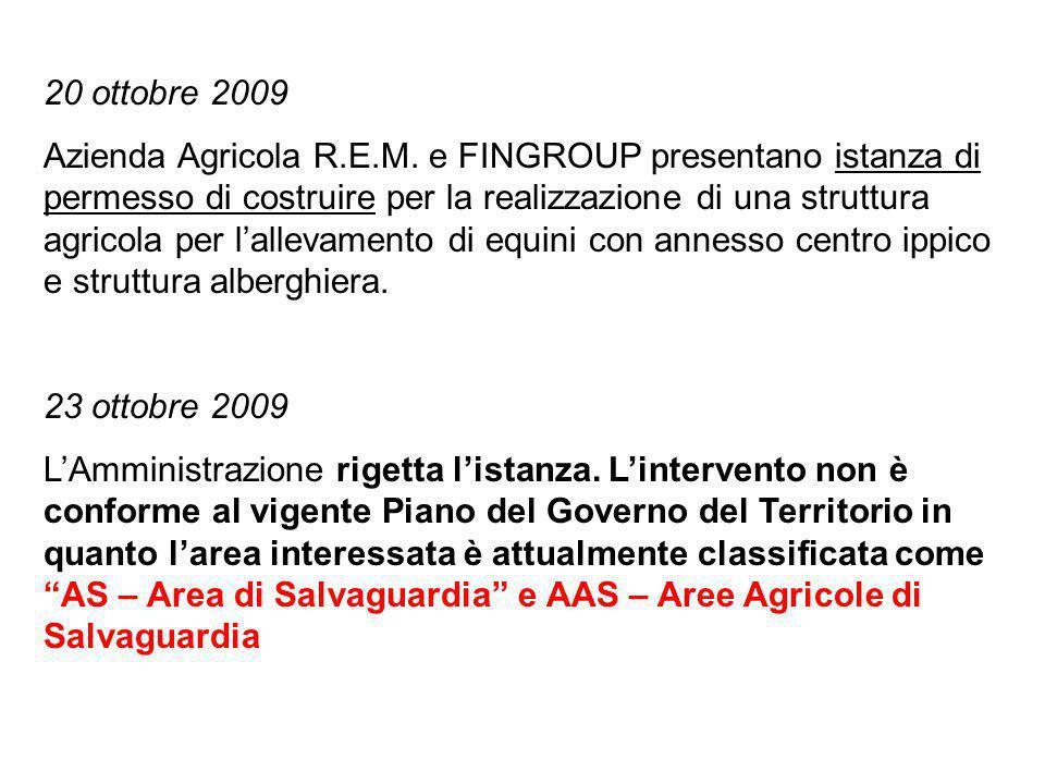 20 ottobre 2009 Azienda Agricola R.E.M.