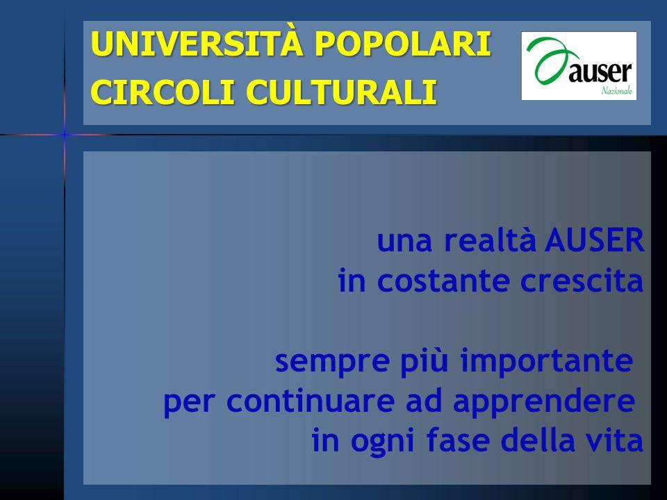 l'attribuzione del bollino UNIVERSITÀ POPOLARI POPOLARICIRCOLICULTURALI dal 1° giugno 2011