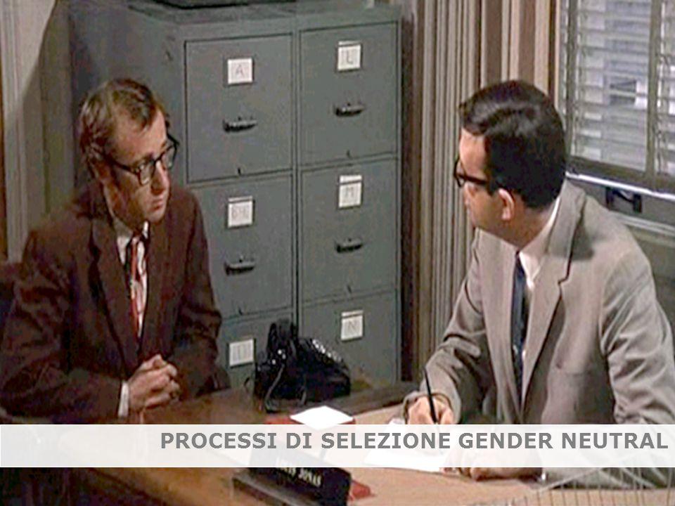 PROCESSI DI SELEZIONE GENDER NEUTRAL