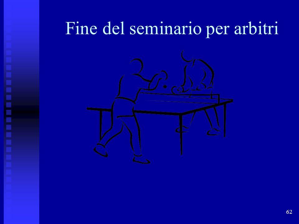 62 Fine del seminario per arbitri